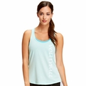 Soffe Dri Beach Glass Heather Racerback Tank Top w/ Sport Print