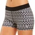 Soffe Dri Black & White Geometric Spandex Shorts