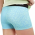 Soffe Dri Blue & Aqua Shards Pattern Spandex Shorts