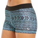 Soffe Dri Blue & Black Aztec Stripe Spandex Shorts