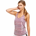 Soffe Dri Colorful Stripes Racerback Tank Top w/ Volleyball Print