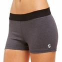 Soffe Dri Grey Heather & Black Spandex Shorts