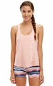 Soffe Dri Peach Bud Heather Racerback Tank Top w/ Sport Print
