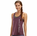 Soffe Dri Potent Purple Heather Racerback Tank Tops w/ Volleyball Print