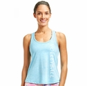Soffe Dri Surf Blue Heather Racerback Tank Top w/ Sport Print