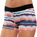 Soffe Dri Tie-Dye Watercolor Pattern Spandex Shorts