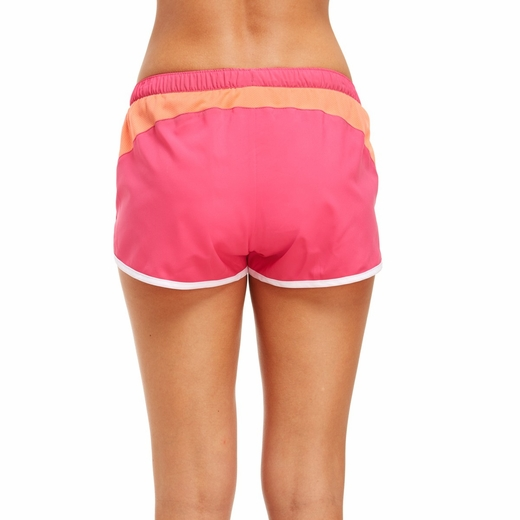 Soffe Fuchsia Pink & Coral Running Shorts