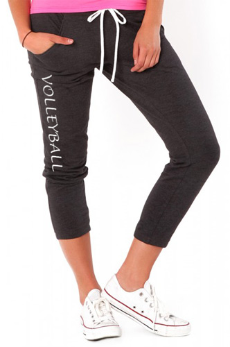 Grey Heather Soffe Pocket Capris - Choice of 16 Sports on Leg or Rear
