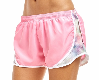 Soffe Light Pink & Watercolor Track Shorts