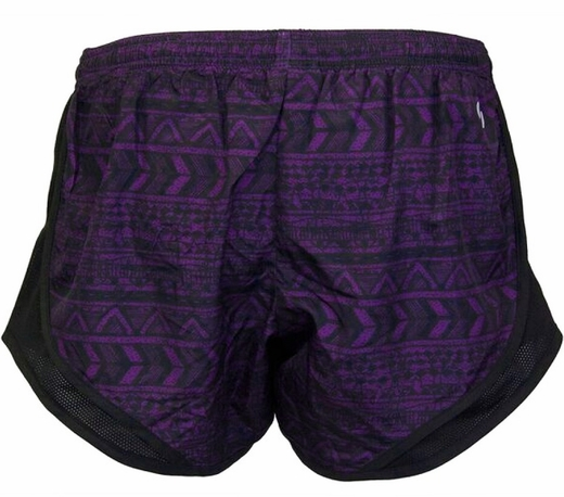 Soffe Purple & Black Aztec Print Track Shorts