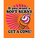 Soft Serve Volleyball Design Neon Orange T-Shirt