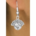 Softball and Ball Fishhook Earrings