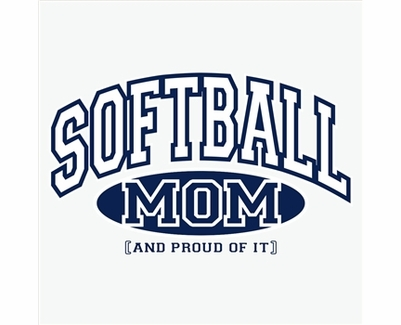 Softball Mom, Proud Of It Design T-Shirt - in 22 Shirt Colors