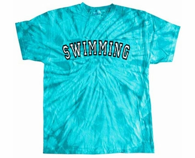 Sport Printed Design Tie-Dye T-shirt - in 22 Sports and 15 Shirt Colors