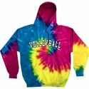 Sport Printed Tie-Dye Hooded Sweatshirt in 22 Sports and 6 Bright Hoodie Colors