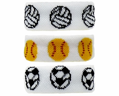 Sports Ball Bracelet / Wristband / Ponytail - in 3 Sport Designs