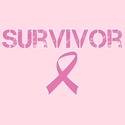Survivor Pink Ribbon Cancer Awareness T-Shirt - in 22 Shirt Colors