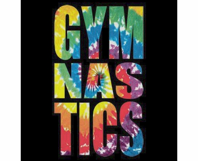 Swirl Tie-Dye Gymnastics Short Sleeve T-Shirt - in 22 Shirt Colors