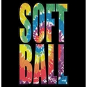 Swirl Tie-Dye Softball Short Sleeve T-Shirt - in 22 Shirt Colors