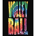 Swirl Tie-Dye Volleyball Long Sleeve Shirt - in 20 Shirt Colors