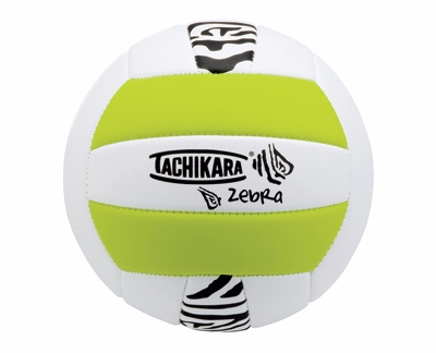 Tachikara Lime Zebra Stripe Volleyball