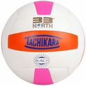 Tachikara Orange-White-Hot Pink 33 North Outdoor Volleyball