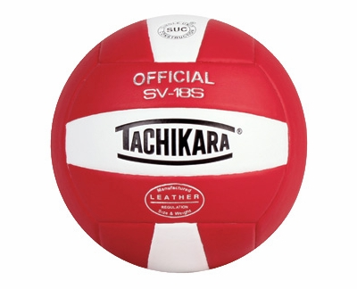 Tachikara Red-White SV-18S Volleyball