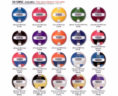 Tachikara SV-5WSC Volleyballs - in 46 Colors