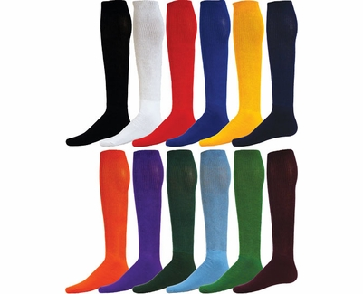 Team Color Athletic Tube Socks - 12 Color Options