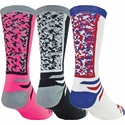 Team Color Digital Camo Performance Crew Socks - 6 Color Options