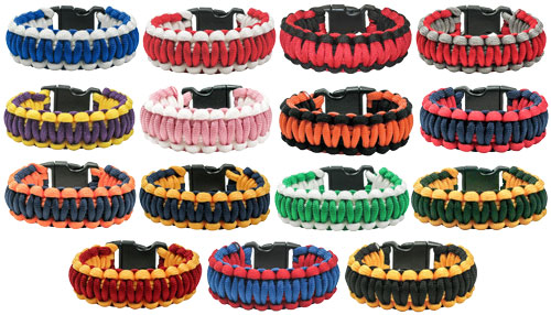 Paracord Survival Bracelets In Lots Of Colors