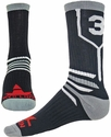 Team Number Prime Black & Grey Crew Sock
