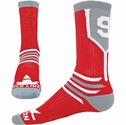 Team Number Prime Red & Grey Crew Sock