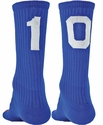 Team Number Solid Royal Blue Crew Sock