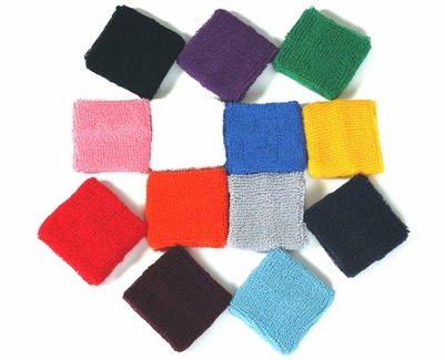 Terry Cloth Wristbands - in 16 Colors