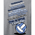 This Is What I Live For Design Oxford Grey Volleyball T-Shirt