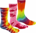 Bright Tie Dye Crew Socks - 3 Color Options