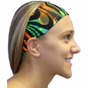 Tie-Dye Tiger Spandex Fabric Headband
