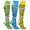 Tie Dye Tiger / Zebra Knee High Socks - 7 Color Options