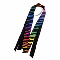 Tie-Dye Zebra Stripe Ribbon Ponytail Streamers