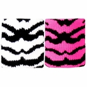 Tiger / Zebra Stripe Terry Cloth Wristbands - in 3 Color Options