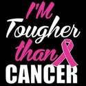 Tougher Than Cancer Pink Ribbon T-Shirt - in 22 Shirt Colors