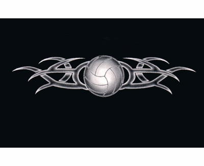 Tribal Tattoo Volleyball Design Long Sleeve Shirt - in 18 Shirt Colors
