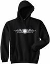 Tribal Tattoo Volleyball Design Hooded Sweatshirt - in 20 Hoodie Colors