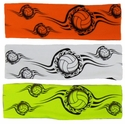 Tribal Volleyball Neon Spandex Headband w/ Black Design - in 5 Colors