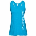 Turquoise Heather Racerback Tank Top w/ 16 Sport Prints