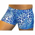 Turquoise Leopard Spandex Shorts