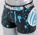 Turquoise Volleyball Splat Flip Band Spandex