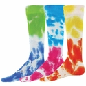 Two Tone Tie-Dye Tube Socks - 4 Color Options