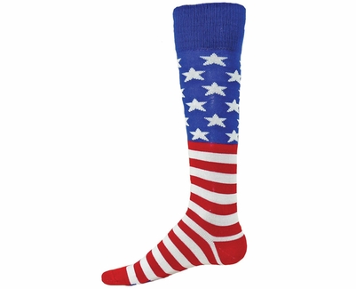USA Flag Stars & Stripes Glory Knee High Socks